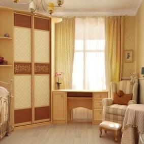 угловой шкаф в детскую комнату дизайн идеи