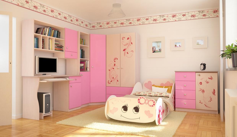угловой шкаф в детскую комнату для девочки