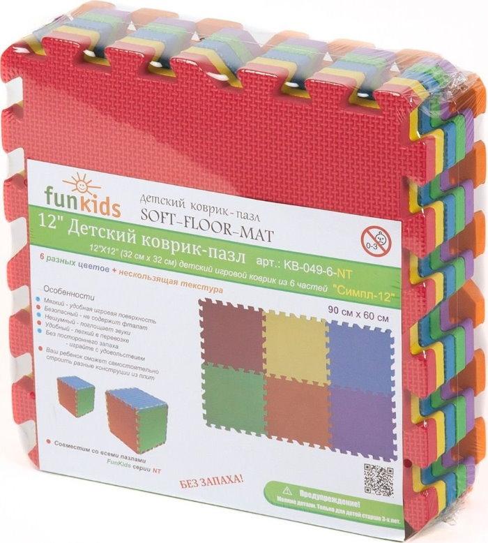 Упаковка с детским ковриком пазлом без запаха