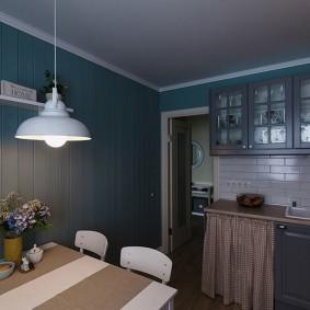 вагонка на кухне фото декора