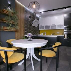 вагонка на кухне идеи декор