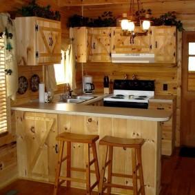 вагонка на кухне идеи декора