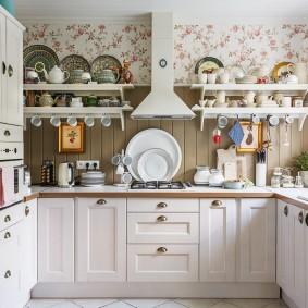вагонка на кухне интерьер