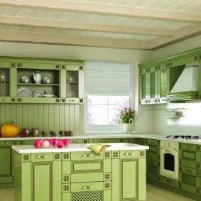 вагонка на кухне идеи интерьера