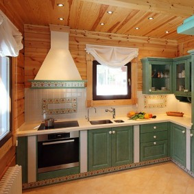 вагонка на кухне идеи фото