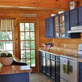 вагонка на кухне фото идеи