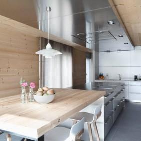 вагонка на кухне виды идеи