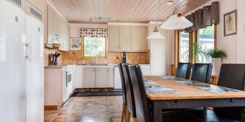 вагонка на кухне фото дизайна