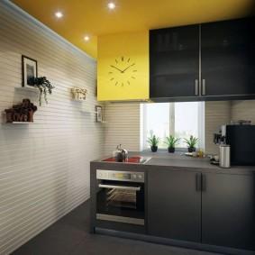 вагонка на кухне дизайн фото