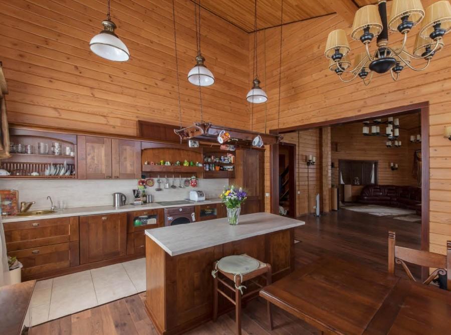 вагонка на кухне дизайн идеи