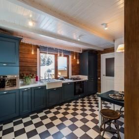 вагонка на кухне фото дизайн