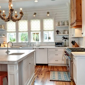 вагонка на кухне идеи дизайна