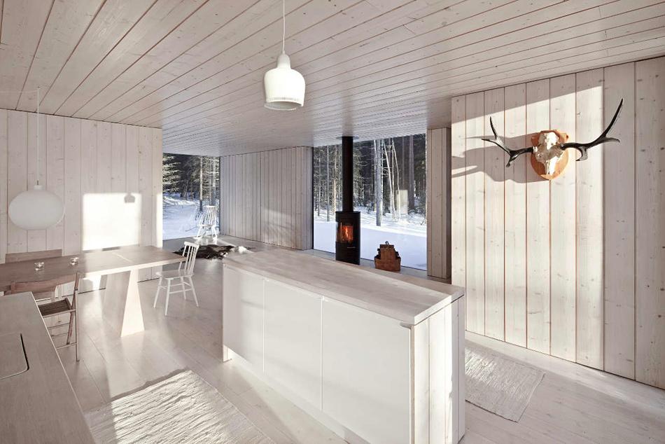 вагонка на кухне минимализм