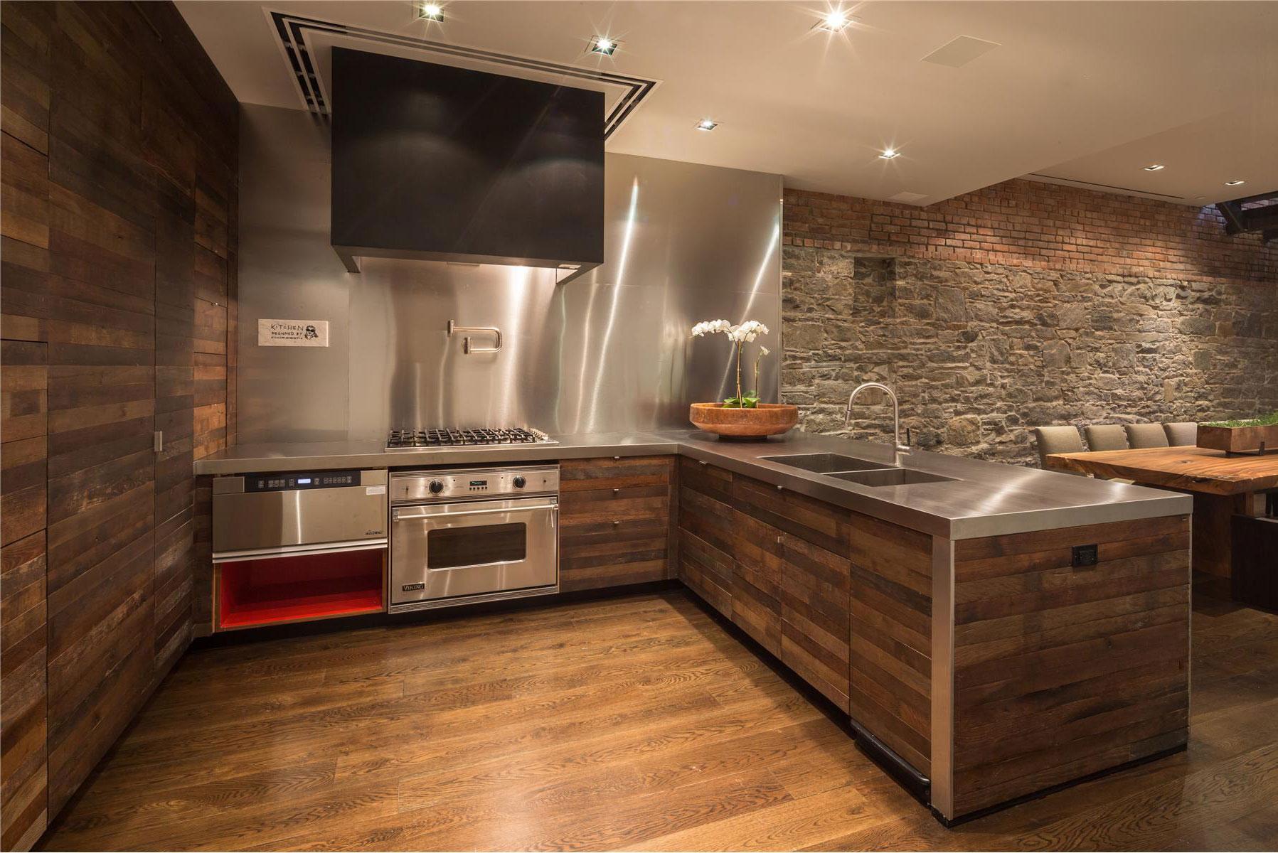 вагонка на кухне оформление фото
