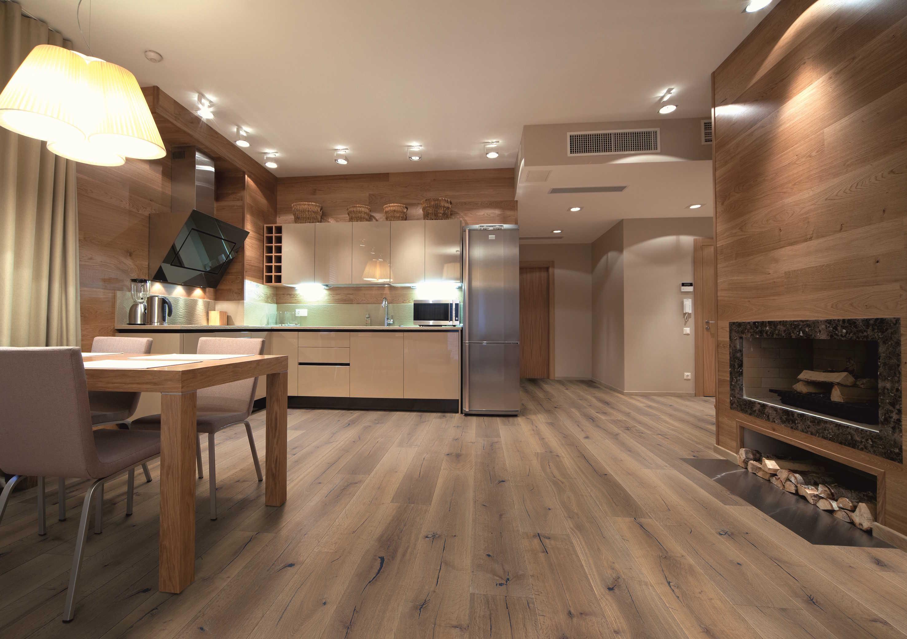 вагонка на кухне современный интерьер