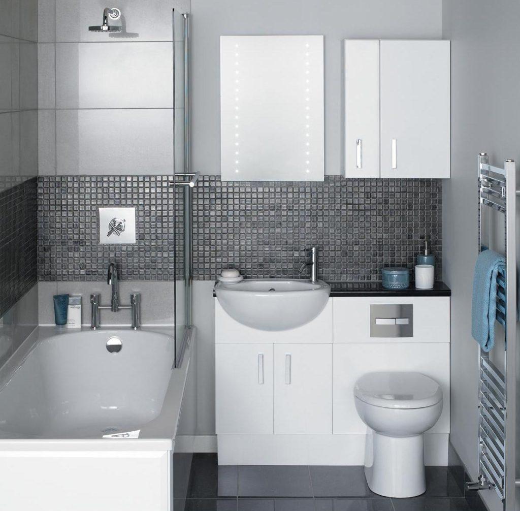 ванная в хрущевке в стиле минимализм