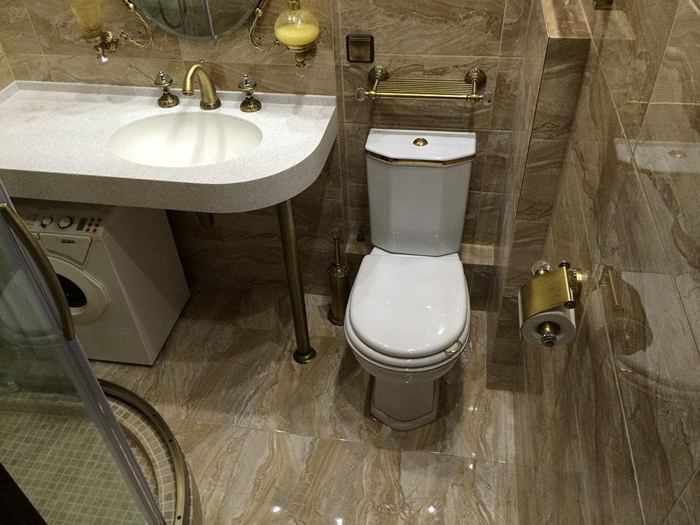 ванная комната стиралка под раковиной