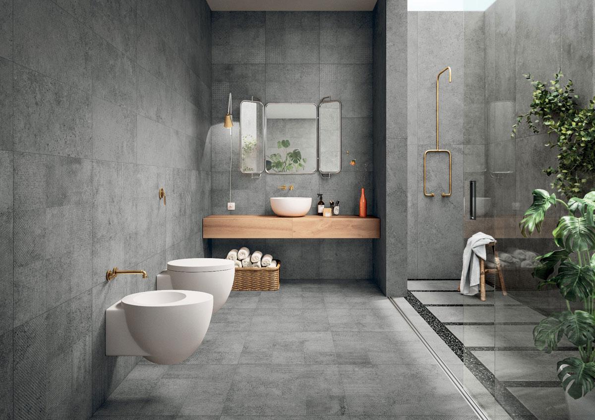 ванная комната 2019 под бетон
