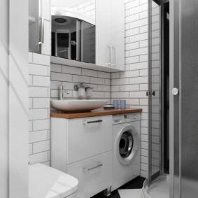 ванная комната в хрущёвке интерьер фото