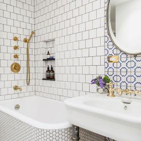 ванная комната в хрущёвке виды декора