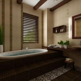 ванная комната в японском стиле декор фото