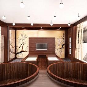 ванная комната в японском стиле декор