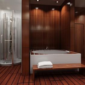 ванная комната в японском стиле фото декор