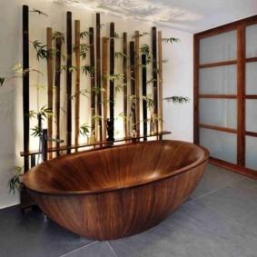 ванная комната в японском стиле декор идеи