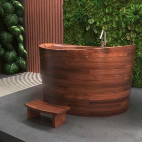 ванная комната в японском стиле интерьер