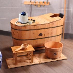 ванная комната в японском стиле фото