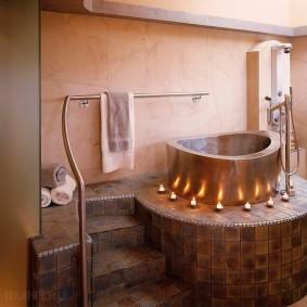 ванная комната в японском стиле интерьер фото