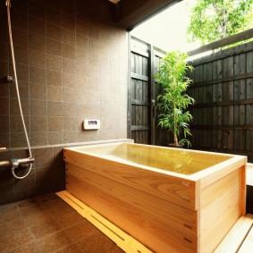 ванная комната в японском стиле фото интерьер