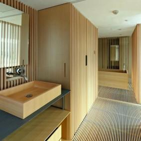 ванная комната в японском стиле интерьер идеи