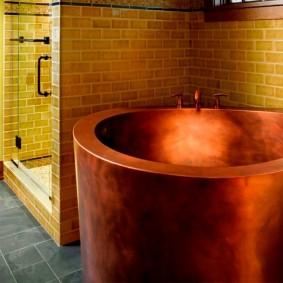 ванная комната в японском стиле идеи интерьер