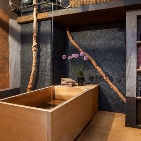ванная комната в японском стиле идеи интерьера