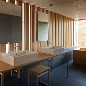 ванная комната в японском стиле фото оформление