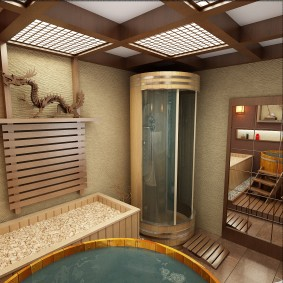 ванная комната в японском стиле идеи