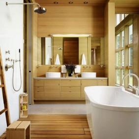ванная комната в японском стиле варианты фото