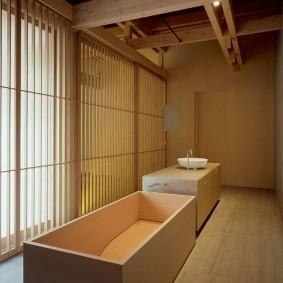 ванная комната в японском стиле идеи варианты