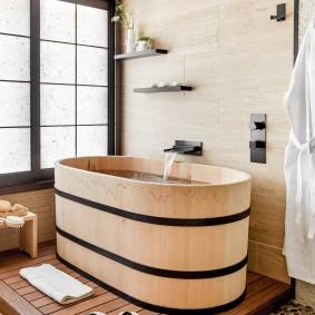 ванная комната в японском стиле идеи фото