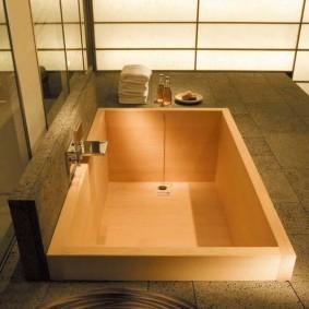 ванная комната в японском стиле виды идеи
