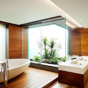 ванная комната в японском стиле виды декора