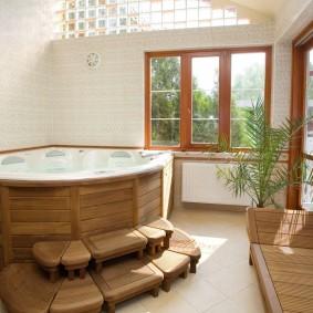 ванная комната в японском стиле фото идеи