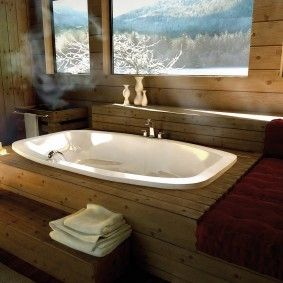 ванная комната в японском стиле дизайн фото