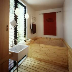 ванная комната в японском стиле фото дизайн