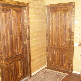 входные деревянные двери идеи оформления