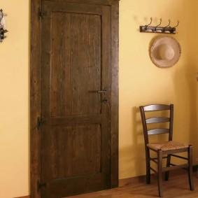 входные деревянные двери идеи оформление