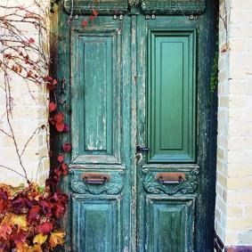 входные деревянные двери оформление идеи