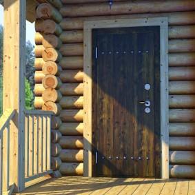 входные деревянные двери фото оформления