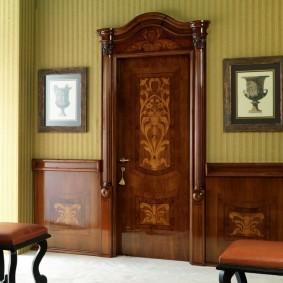 входные деревянные двери идеи интерьера